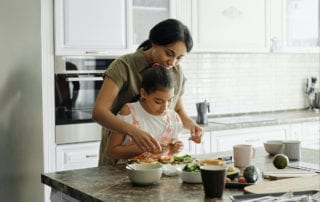 What a Chemical Imbalance does to your brain-mother and daughter cooking dinner
